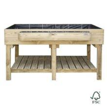 Mesa de cultivo de madera para huerto urbano Ecoexpert