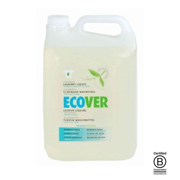 Detergente líquido biodegradable de Ecover elaborado utilizando únicamente elementos vegetales, compuestos todos ellos biodegradables