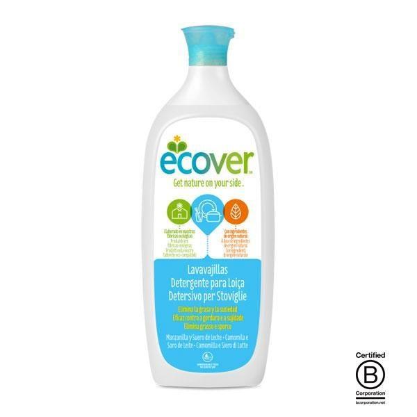 Lavavajillas líquido ecológico de Ecover fabricado utilizando únicamente ingredientes naturales, vegetales y minerales