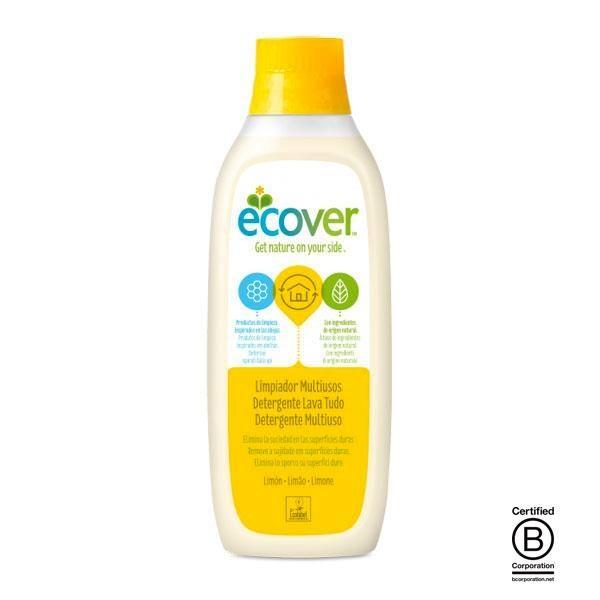 Limpiador ecológico multiusos Limón de Ecover se ha elaborado utilizando únicamente elementos vegetales, compuestos todos ellos biodegradables e inocuos para el medio ambiente.