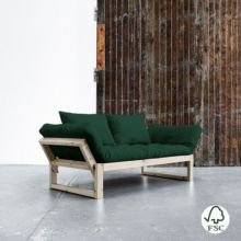 El diván cama Edge verde botella