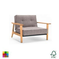 El sillón Eik esta ideado para sincronizarse con el sillon Eik sin reposabrazos y conseguir una chaise longue comodísima.