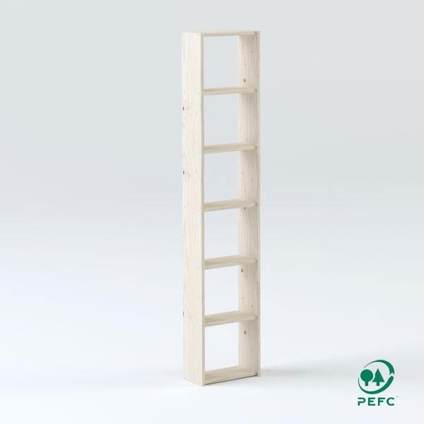 La estantería básica de 40 cm de madera maciza la estantería básica de 40 cm está disponible con 4, 5, 6 o 7 baldas.