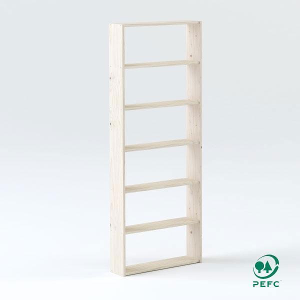 La estantería básica de 80 cm de madera maciza