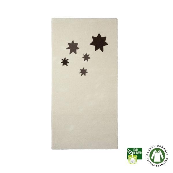 Alfombra de lana ecológica con estrellas