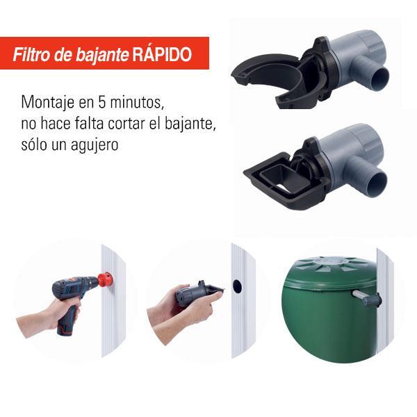 Dep sito recogida agua basic 300 l - Deposito de agua de lluvia ...