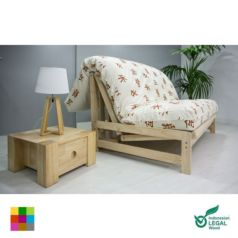 Sofá cama Fold-bed: En su función de sofá dispone de dos cómodas plazas. Abierto en modo cama se convierte en una confortable cama doble de 140 x 200 cm.