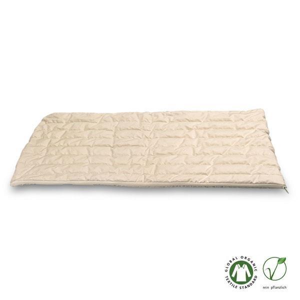 La funda para almohada de algodón orgánico es una funda natural acolchada en acabado percal altamente transpirable, bien tejida y con cremallera.