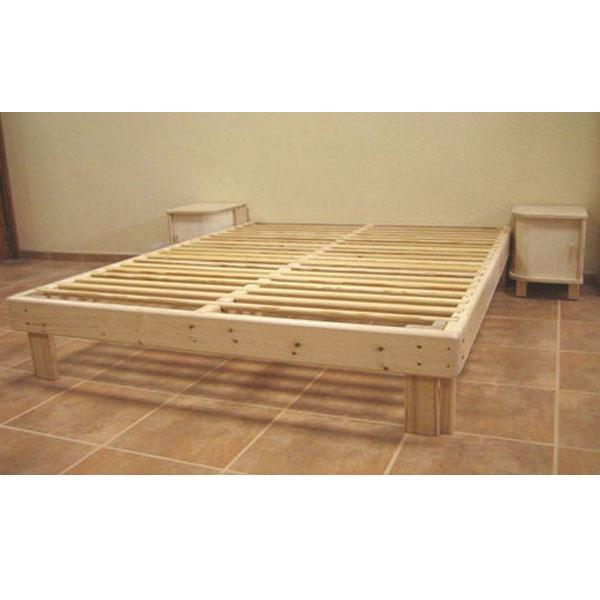 Cama somier madera fustaforma sin metales for Como hacer una cama alta de madera