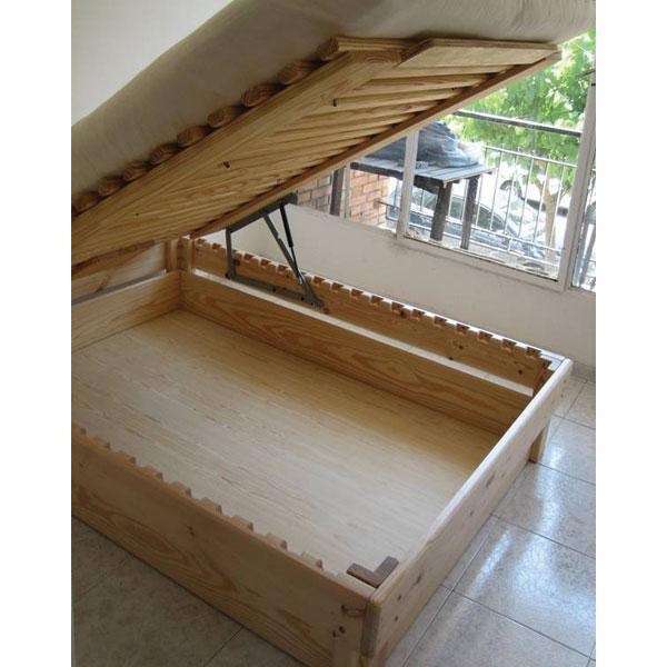 Cama somier madera fustaforma con arc n abatible for Imagenes de futones