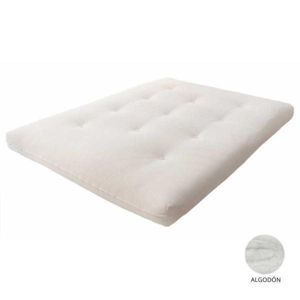 El futón de algodón es el más parecido a los futones tradicionales.