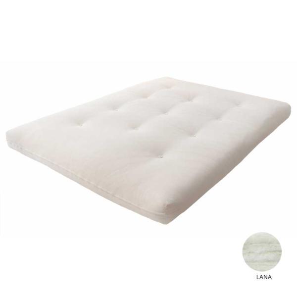 El futón de lana ofrece una climatización natural excelente, absorbe y neutraliza el sudor y las bacterias teniendo así una enorme capacidad de auto depuración.