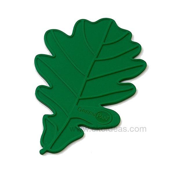 El salvamanteles verde de Green Pan está diseñado para ponerse debajo de cualquier cazuela.