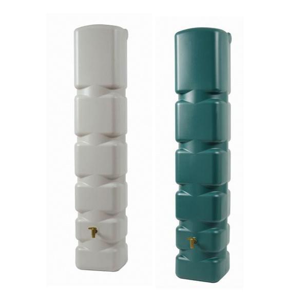Depósito recogida agua Basic. Es perfecto por su reducida base (40 x 42 cm) y su altura (210 cm) para colocar en cualquier lugar.