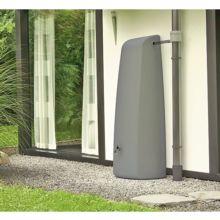 El depósito lluvia Elegance tiene una capacidad de 400 L y está disponible en gris o beige