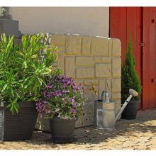 Depósito recogida agua de lluvia imitación muro perfecto para la recogida y almacenamiento de agua de lluvia.