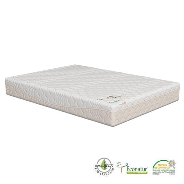 El colchón ecológico de látex natural 100% Grand Standing tiene un núcleo de 18 cm de látex Econatur 100% natural y una altura total de 21 cm el colchón Grand Standing es un producto natural, biodegradable, anti bacteriano y libre de ácaros.