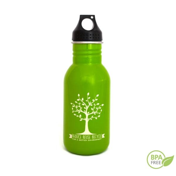 Botella reusable de acero inoxidable Greenyway 500 ml verde
