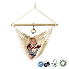 La hamaquita bebé Yayita Bio: para que el bebé se encuentre tranquilo y relajado la hamaca tiene 2 posiciones, abierta y cerrada.