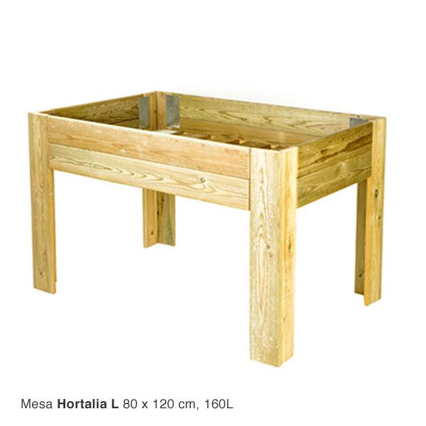 Mesa de cultivo de madera para huerto urbano hortalia - Drenaje mesa de cultivo ...