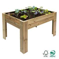 Las mesas de cultivo de madera están fabricadas para exteriores con madera de pino nórdico sin barnizar por lo que son perfectas para la agricultura ecológica.
