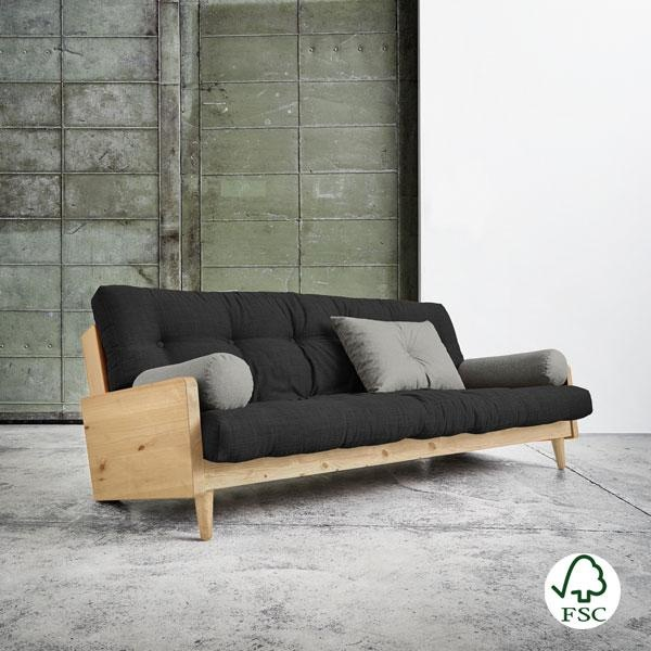 Sof cama indie dark grey for Busco sofa cama