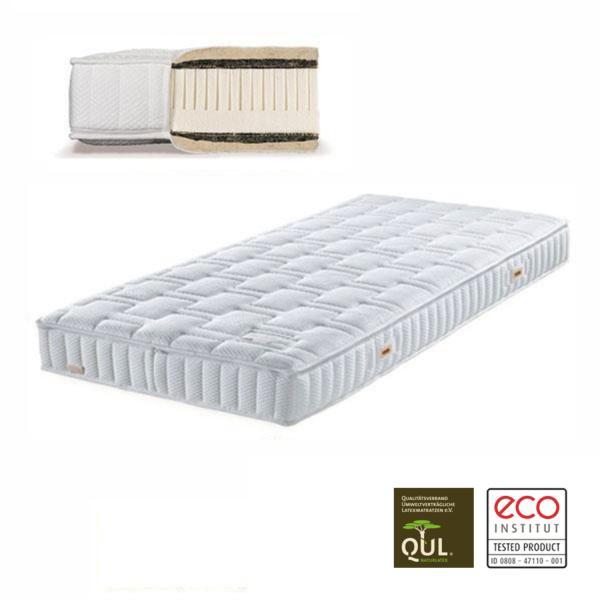 El colchón de látex natural Isoform tiene un grado de firmeza Medio-Firme (H4), cómodo y robusto, adecuado para todo tipo de personas, incluidas las de más peso.