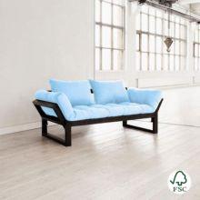 Con el diván cama Edge azul celeste tendrás una cama más para cuando tengas invitados con un colchón de tu color favorito.