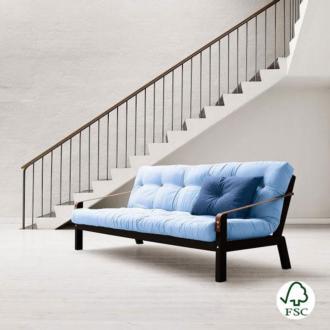El sofá cama Poetry azul claro