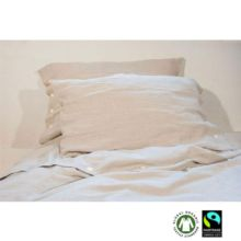 Juego de cama funda nórdica de lino natural