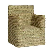 El sillón de esparto Turqueta está fabricado artesanalmente con materiales naturales