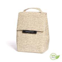 Esta bolsa porta-tuppers tiene el interior de suave algodón orgánico y el exterior de resistente poliéster-eco impermeable.