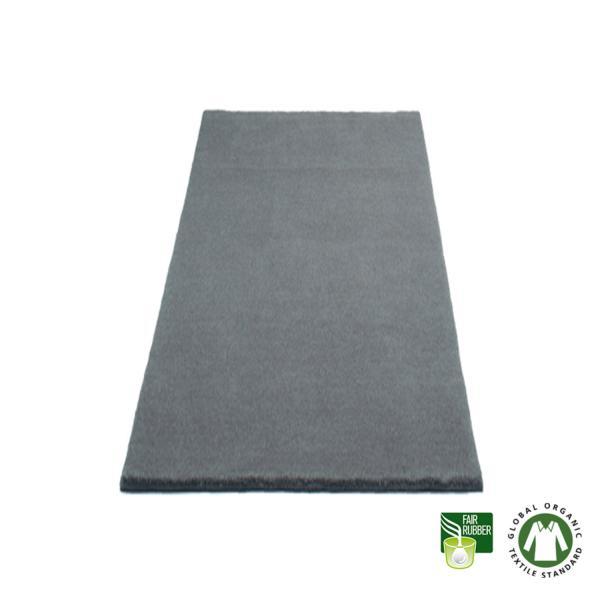 Alfombra de lana ecológica y algodón gris