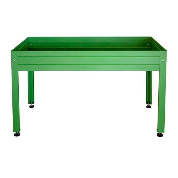 Mesa de cultivo cultivo en casa color verde - Mesa para huerto urbano ...