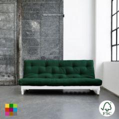 El sofá cama Fresh lacado blanco es un sofá de tres plazas que con un simple gesto se convierte en una cama doble con futón. - Ítem
