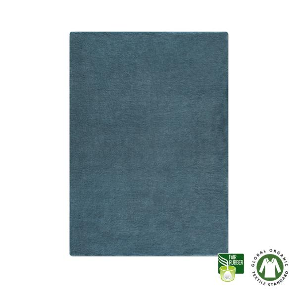 Alfombra de lana ecológica azul noche