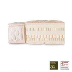 El Colchón de látex Natural Eco es de 10 cm de látex 100% natural, con un acolchado de lana merina o algodón orgánico y una funda exterior de algodón orgánico.