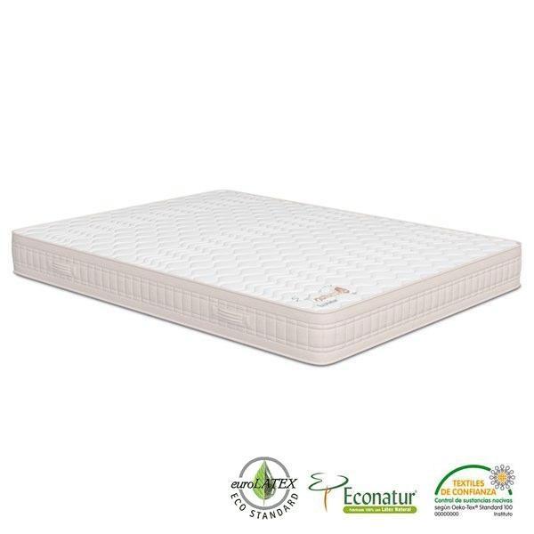 El colchón ecológico de látex natural 100% Naturalia se fabrica con materiales naturales de primera calidad y sus cualidades ortopédicas te garantizan un descanso óptimo.