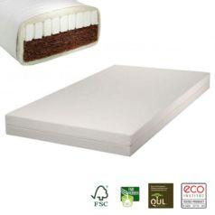 El colchón infantil de fibra de coco Nele Plus atesora todas las propiedades que caracterizan un colchón natural de primera calidad para un descanso óptimo.