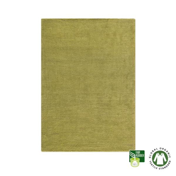 Alfombra de lana ecológica verde oliva