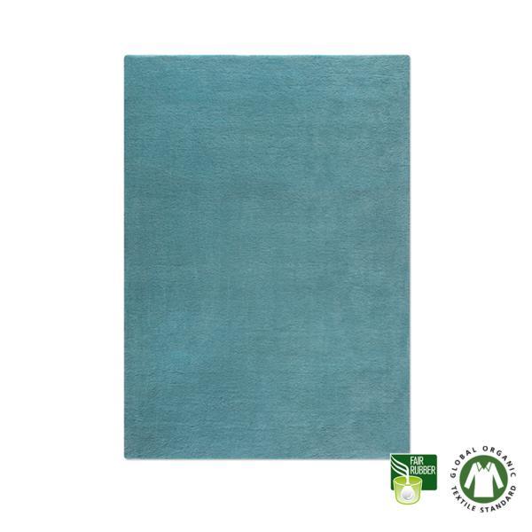 Alfombra de lana ecológica azul