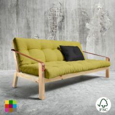 El sofá cama Poetry Lacado natural