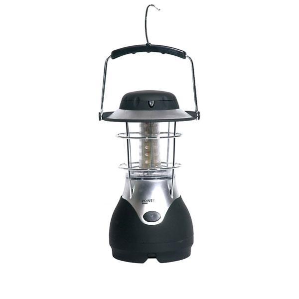 La lámpara solar dinamo de camping Bear es posible cargarla en una toma de corriente eléctrica o incluso en el coche.