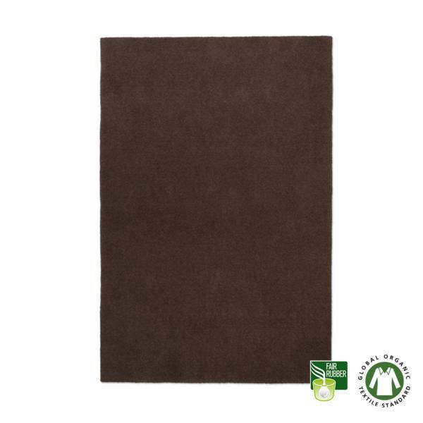 Alfombra de lana ecológica Pure marrón
