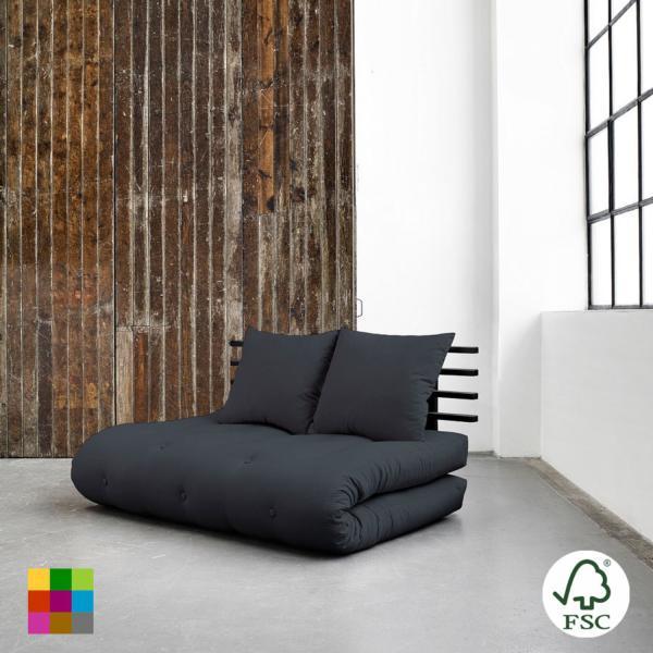 Sofá cama Shin Sano negro es un original y divertido sofá cama