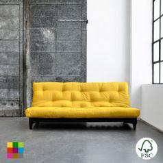 El sofá cama Fresh lacado negro