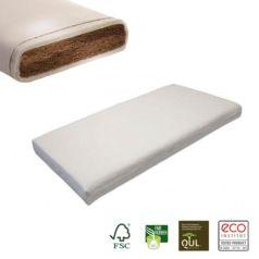 El colchón de cuna de fibra de coco Ronja atesora todas las propiedades que caracterizan un colchón natural de primera calidad para un descanso óptimo.