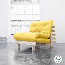 El sofá cama Roots individual amarillo