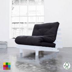 El sofá cama Roots individual es un cómodo sofá de diseño limpio, acogedor, confortable y de estructura sólida. Puedes usarlo en tres posiciones diferentes.