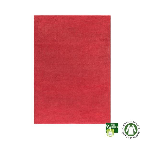 Alfombra de lana ecológica roja